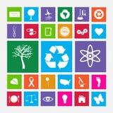 Icone della metropolitana di Eco Fotografie Stock