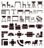 Icone della mobilia illustrazione di stock