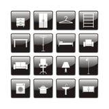 Icone della mobilia Immagine Stock Libera da Diritti