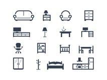Icone della mobilia Fotografie Stock Libere da Diritti
