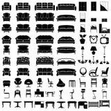 Icone della mobilia Fotografie Stock