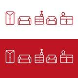 Icone della mobilia di vettore Immagini Stock