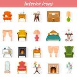 Icone della mobilia di vettore illustrazione di stock