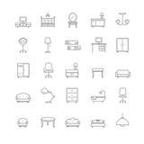 Icone della mobilia impostate Immagine Stock
