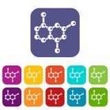 Icone della molecola messe Immagini Stock