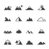 Icone della montagna Fotografie Stock Libere da Diritti