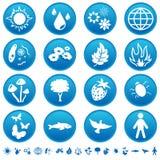 Icone della natura Fotografia Stock Libera da Diritti