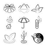 Icone della natura Fotografia Stock