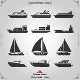 Icone della nave messe Fotografie Stock Libere da Diritti