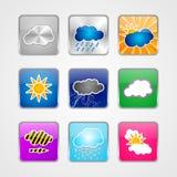Icone della nuvola Fotografie Stock