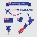 Icone della Nuova Zelanda illustrazione di stock