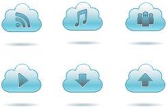Icone della nuvola di dati Fotografia Stock