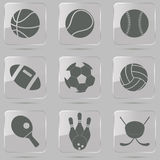 Icone della palla di sport illustrazione vettoriale