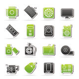 Icone della parte del computer Fotografie Stock