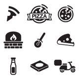 Icone della pizza Fotografie Stock