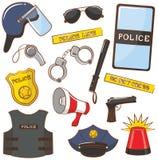 Icone della polizia Immagine Stock Libera da Diritti