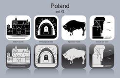 Icone della Polonia royalty illustrazione gratis