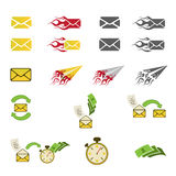 Icone della posta Fotografia Stock