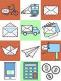 Icone della posta Immagine Stock
