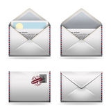 Icone della posta impostate Fotografie Stock Libere da Diritti