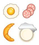 Icone della prima colazione Fotografie Stock