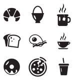 Icone della prima colazione Fotografie Stock Libere da Diritti