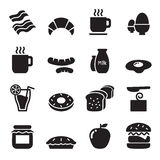 Icone della prima colazione impostate Immagini Stock Libere da Diritti