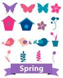 Icone della primavera Immagini Stock Libere da Diritti