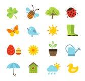 Icone della primavera Fotografia Stock