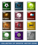 Icone della raccolta degli sport molto popolari Immagini Stock