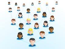 Icone della rete di Crowdsourcing illustrazione vettoriale