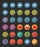 Icone della rete e della parte Fotografie Stock