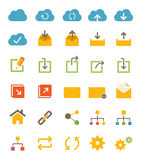Icone della rete e della parte Immagini Stock