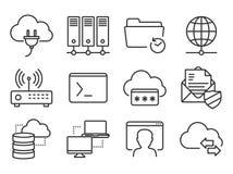 Icone della rete messe Immagini Stock