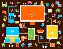 Icone della rete sociale Immagine Stock
