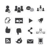 Icone della rete sociale Fotografia Stock