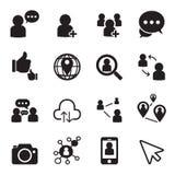 Icone della rete sociale Fotografie Stock