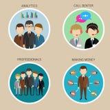 Icone della risorsa umana di varietà, vettore Fotografia Stock