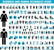 Icone della risorsa umana e di affari royalty illustrazione gratis
