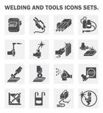 Icone della saldatura illustrazione di stock