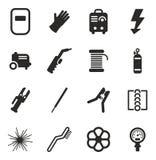 Icone della saldatura Immagine Stock