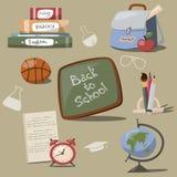 Icone della scuola illustrazione vettoriale