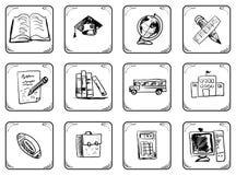 Icone della scuola Fotografia Stock