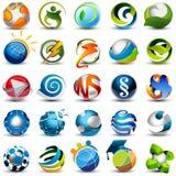 Icone della sfera Immagini Stock