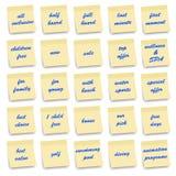 Icone della sistemazione - serie delle note Fotografia Stock