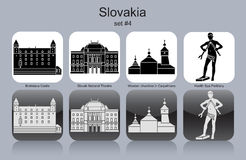Icone della Slovacchia Immagine Stock