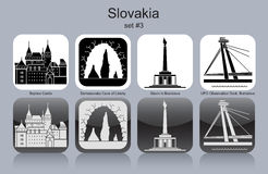 Icone della Slovacchia Fotografia Stock