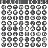 Icone della spiaggia Immagini Stock