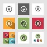 Icone della spina Immagine Stock