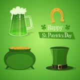 Icone della st Patricks Fotografia Stock Libera da Diritti